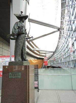 東京国際フォーラムの太田道灌像